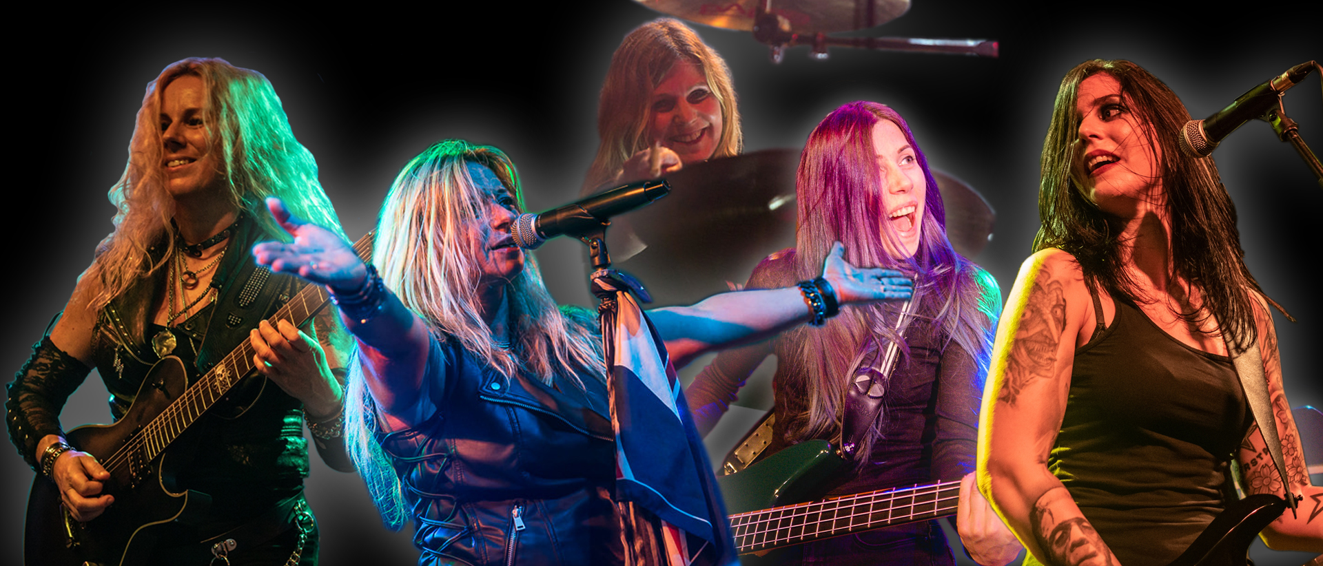 She's Got Balls - Ladies Tribute to AC/DC - Collage September 2019 - Iris Boanta - Cathleen Catman - Jani Jäckel - Anja Assmuth - Lea Fuji